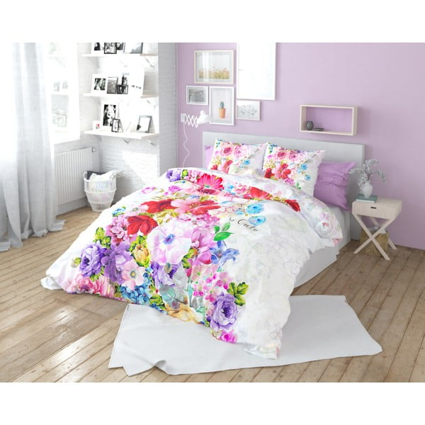 Lenjerie de pat din bumbac Dreamhouse So Cute Floortje, 160 x 200 cm