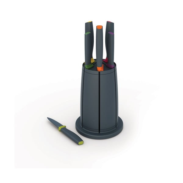 Komplet 6 noży z obracanym stojakiem Joseph Joseph Knives & Carousel Set