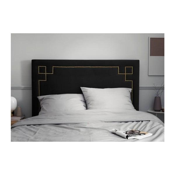 Černé čelo postele THE CLASSIC LIVING Nicolas, 120 x 140 cm