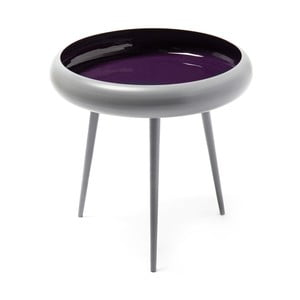 Šedo-fialový odkládací stolek 360 Living Vaiva, ⌀ 49 cm