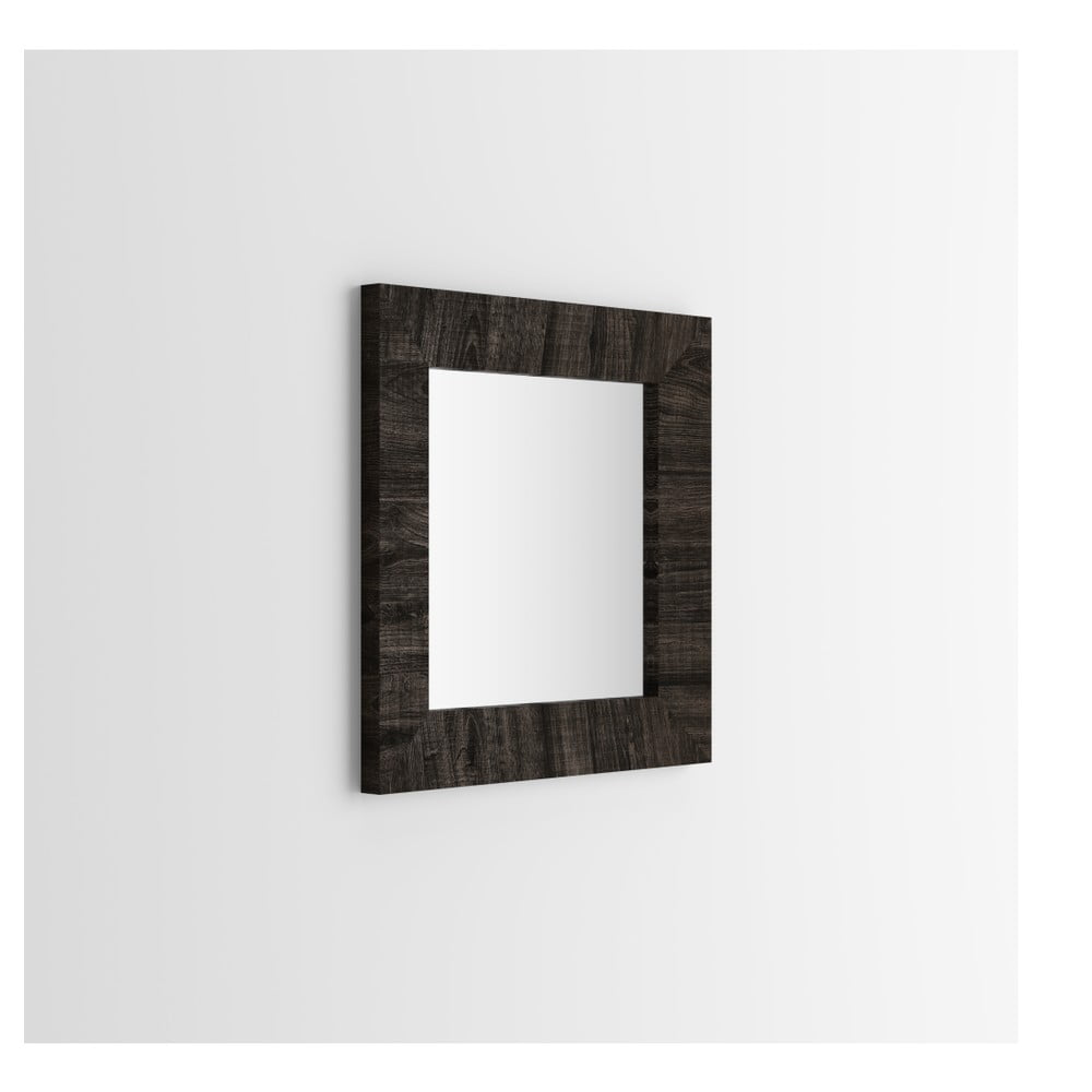Zrcadlo v dekoru hnědého dubu MobiliFiver Giuditta, 65x65cm