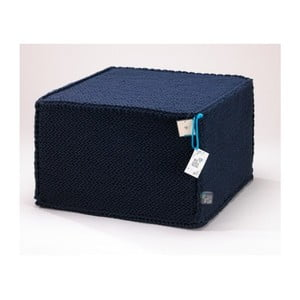 Tmavě modrý puf WeLoveBeds Comfortable Flat L