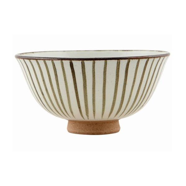 Ručně malovaní mísa Stripes Brown, 12x6 cm