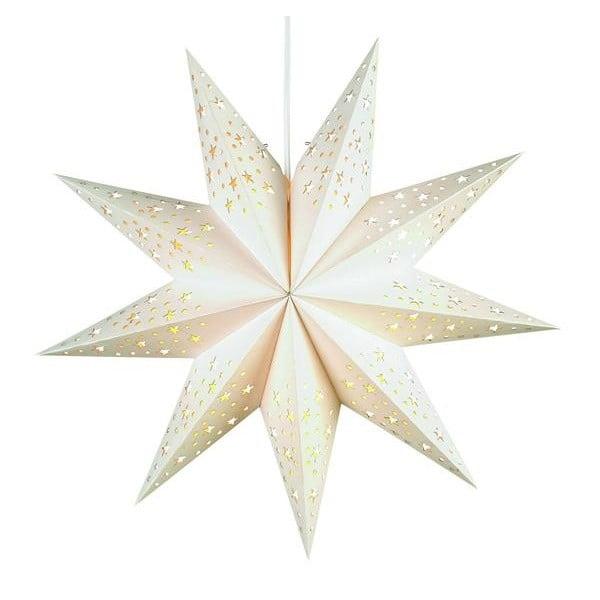 Svítící hvězda Solvalla White, 45 cm