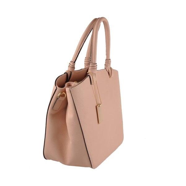 Kožená kabelka Emilio Masi Bristol, růžová