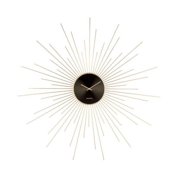 Ceas de perete Karlsson Peony, negru - auriu, ø 60 cm