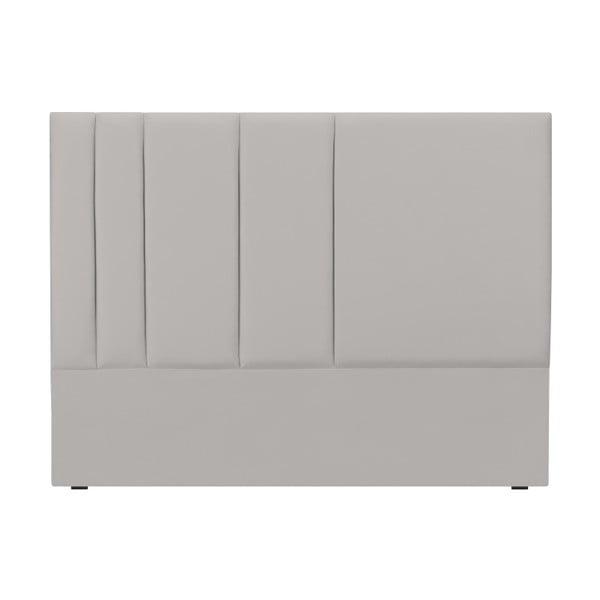 Šedé čelo postele Mazzini Sofas Dahlia, 120 x 140 cm
