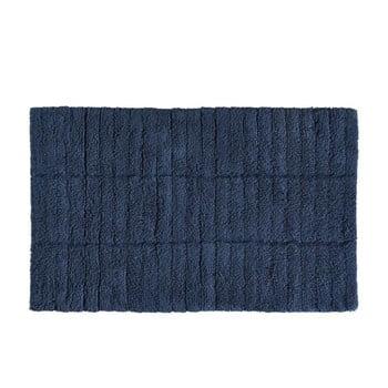Covor baie din bumbac Zone Tiles, 50 x 80 cm, albastru închis de la Zone