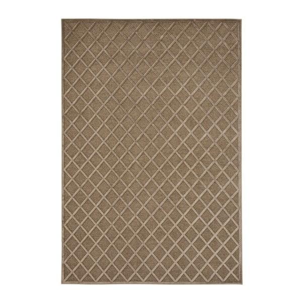Covor Mint Rugs Shine Karro, 80 x 125 cm, maro