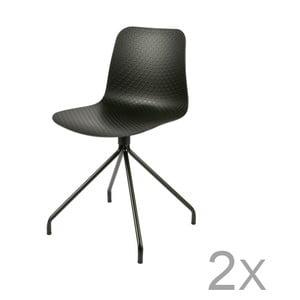 Sada 2 černých židlí De Eekhoorn Sis