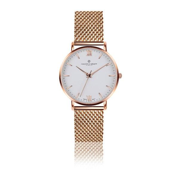 Zegarek damski z bransoletką ze stali nierdzewnej w kolorze różowego złota Frederic Graff Dent