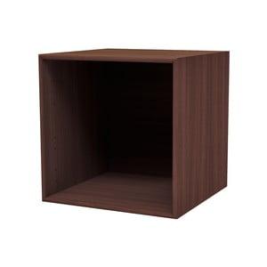 Tmavě hnědá nástěnná police WOOD AND VISION Choice, 39,7 x 39,7 x 38,4 cm