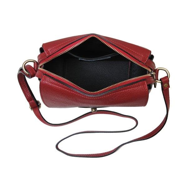 Červená kabelka z pravé kůže Andrea Cardone Alessio