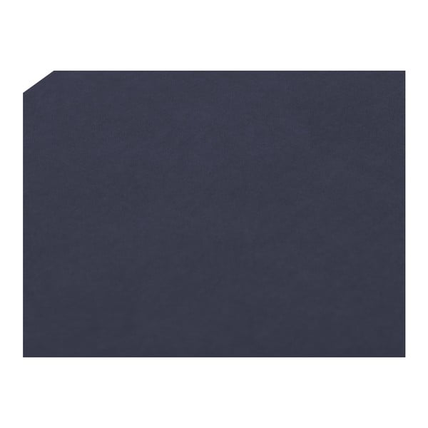 Tmavě modrý otoman Mazzini Sofas Ancona, 160 x 47 cm