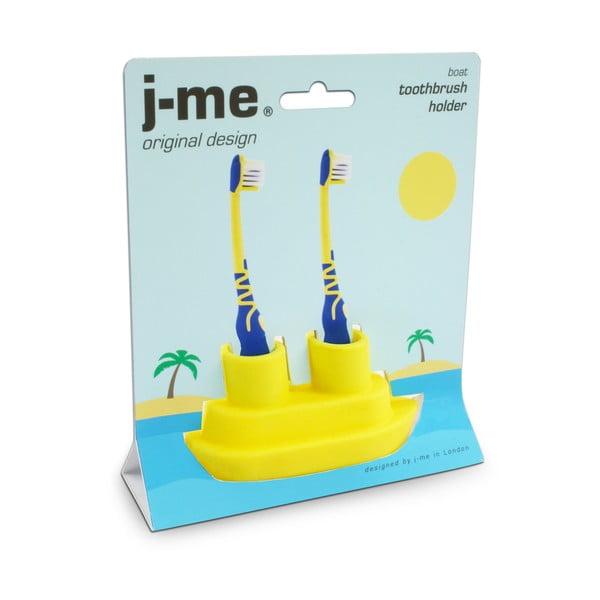 Žlutý stojánek na kartáček J-Me Boat