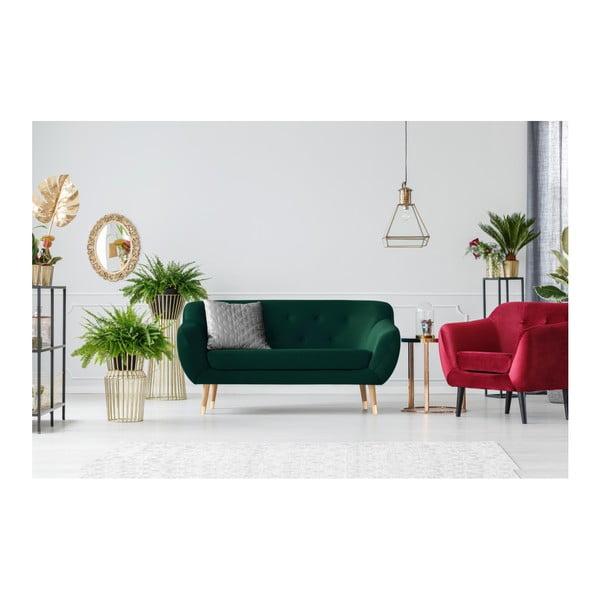 Tmavě zelená dvoumístná pohovka Mazzini Sofas Amelie