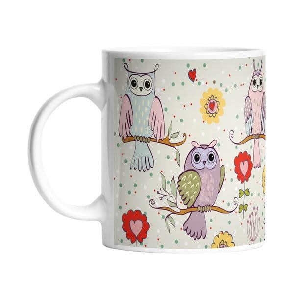 Keramický hrnek Owls in Love, 330 ml