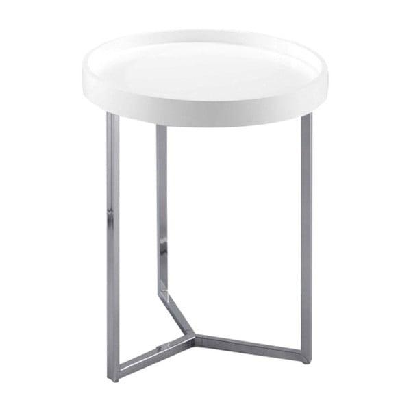 Bílý odkládací stolek Design Twist Tallin