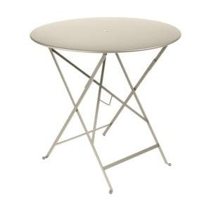 Světle béžový zahradní stolek Fermob Bistro, Ø 77 cm