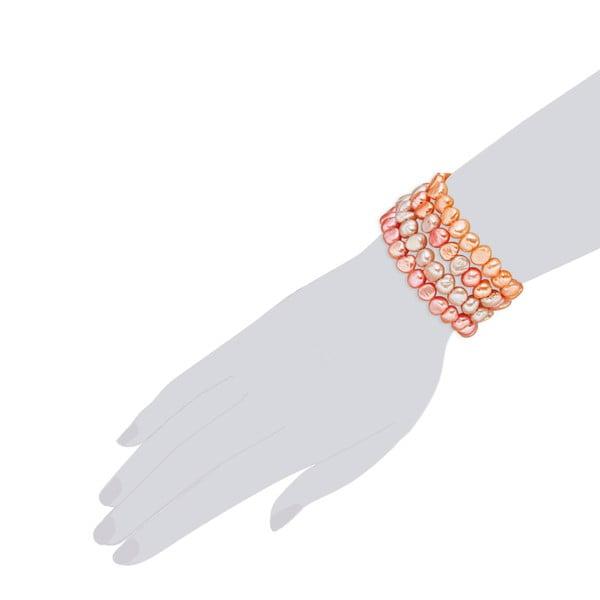 Oranžový perlový náramek Nova Pearls Copenhagen Laris
