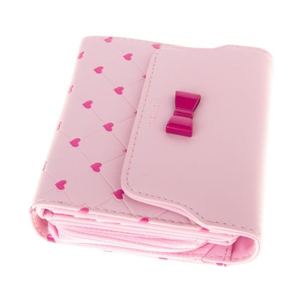 Malá peněženka Charm, růžová