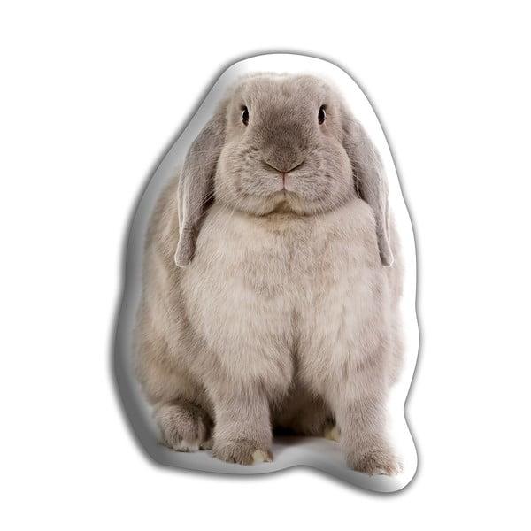 Polštářek Adorable Cushions Šedý králíček