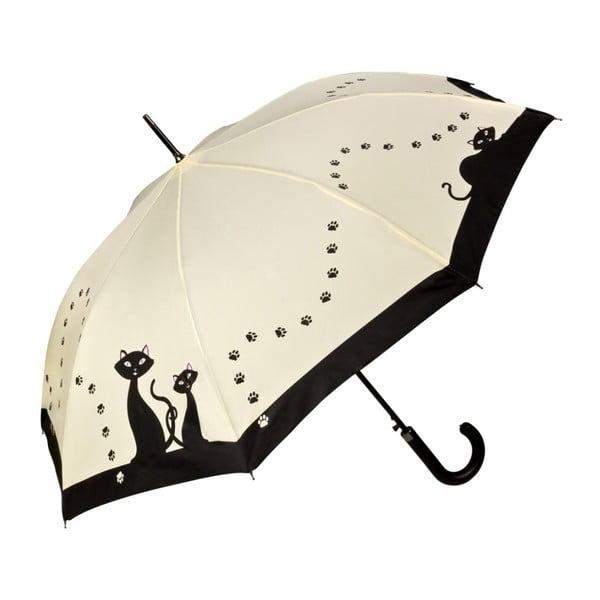 Holový deštník Von Lilienfeld Black Cats, ø 100 cm