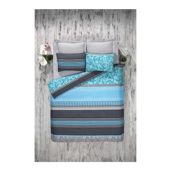 Miranda Turquoise kétszemélyes pamutkeverék ágyneműhuzat, 200 x 220 cm