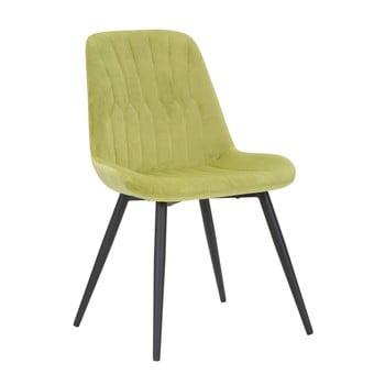 Scaun cu structură din fier Mauro Ferretti Dama, verde deschis