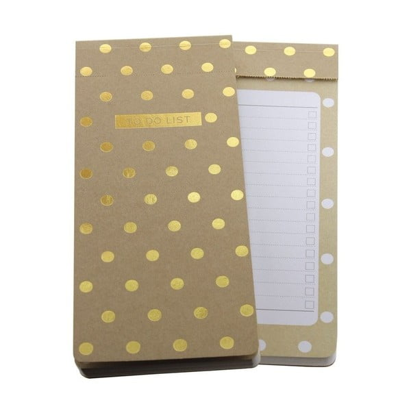 To Do List Go Stationery Midi Polka Kraft