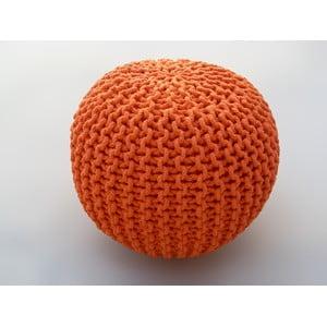 Oranžový sedací puf Oval