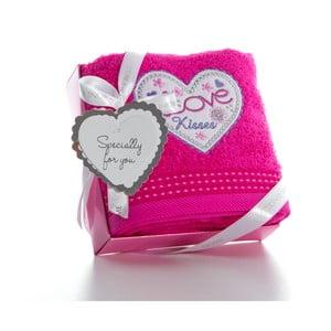 Osuška Pink Love, 50x90 cm