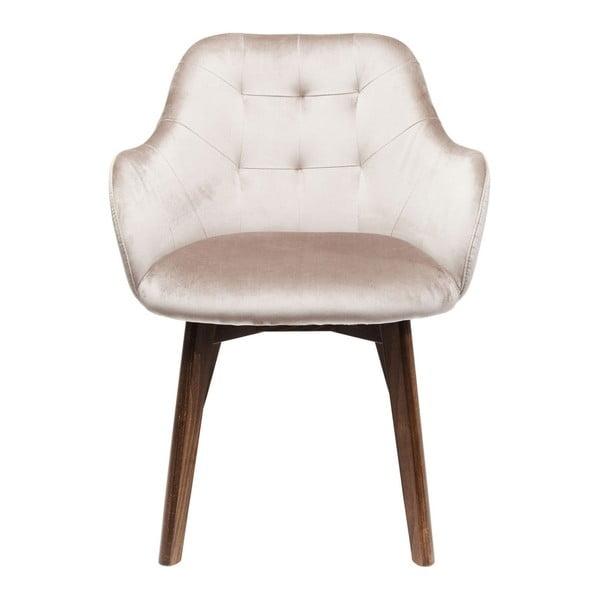 Béžová židle s nohami z bukového dřeva Kare Design