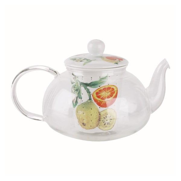 Skleněná čajová konvička Fruit s keramickým filtrem