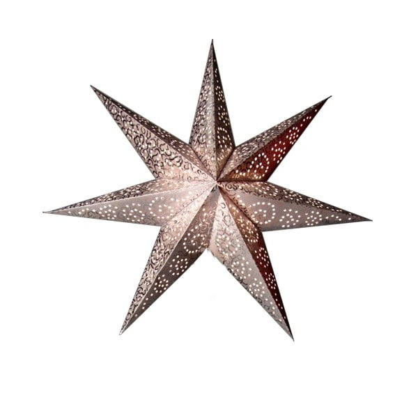 Vánoční hvězda ve stříbrné barvě Best Season Antique