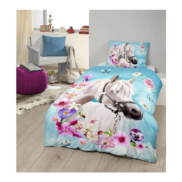 Lenjerie de pat din bumbac pentru copii Good Morning My Beauty,140x200cm