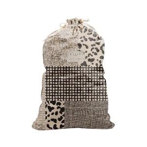 Látkový vak na prádlo Linen Couture Bag Leopard, výška 75 cm