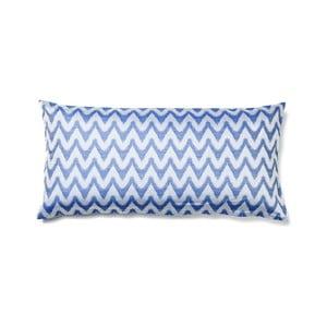 Modrý povlak na polštář z čisté bavlny Casa Di Bassi Aqua, 40 x 80 cm
