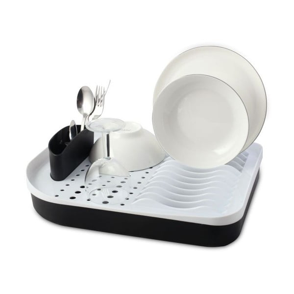 Černý odkapávač na nádobí Vialli Design Livio