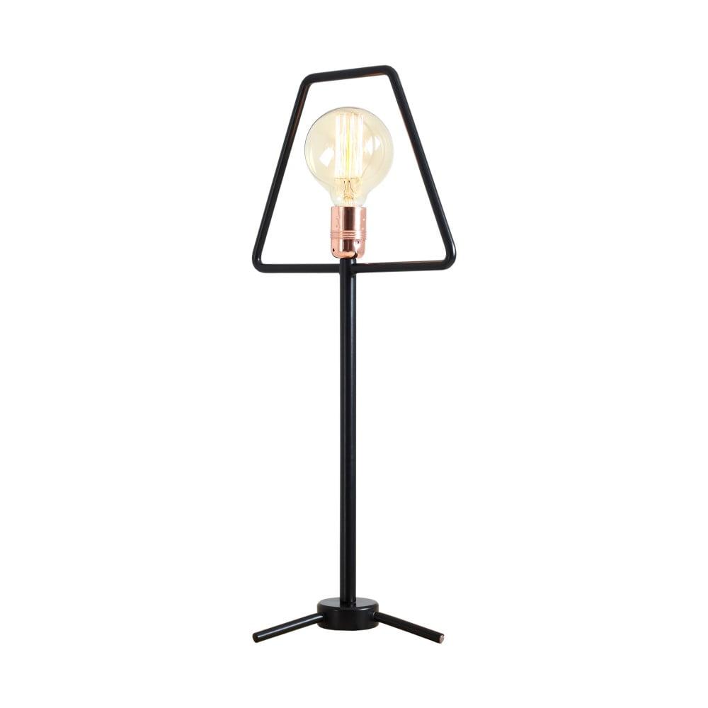 Černá stolní lampa Custom Form Bullet