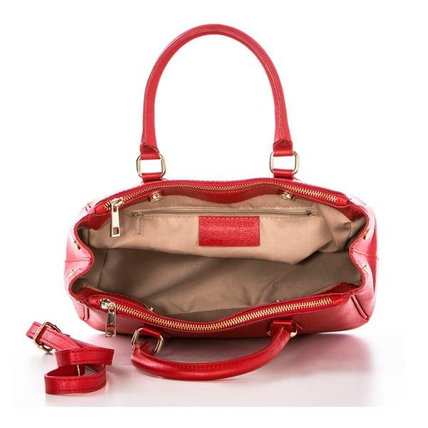 Kožená kabelka Saffi Red