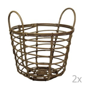 Sada 2 košíků z bambusu HSM Collection Bambi