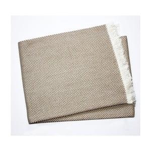 Šedohnědý pléd s podílem bavlny Euromant Skyline, 140x180cm