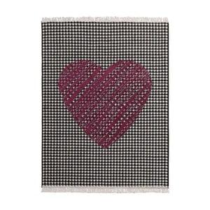 Covor Fringe - inimă, închisă la culoare, 140x200 cm,
