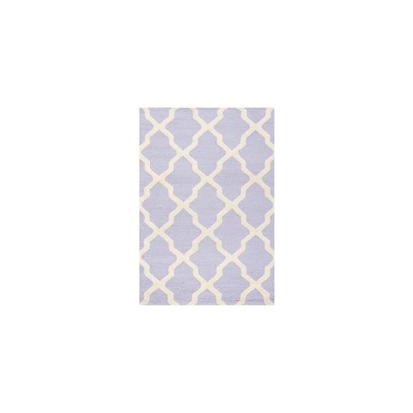 Jasnofioletowy dywan wełniany Safavieh Ava, 91x152 cm