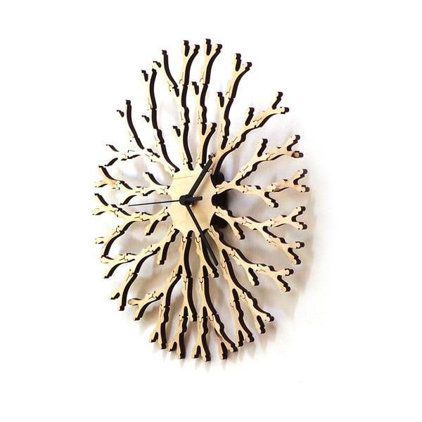 Dřevěné hodiny Dandelion, 29 cm