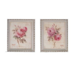 Set 2 tablouri Antic Line Floral
