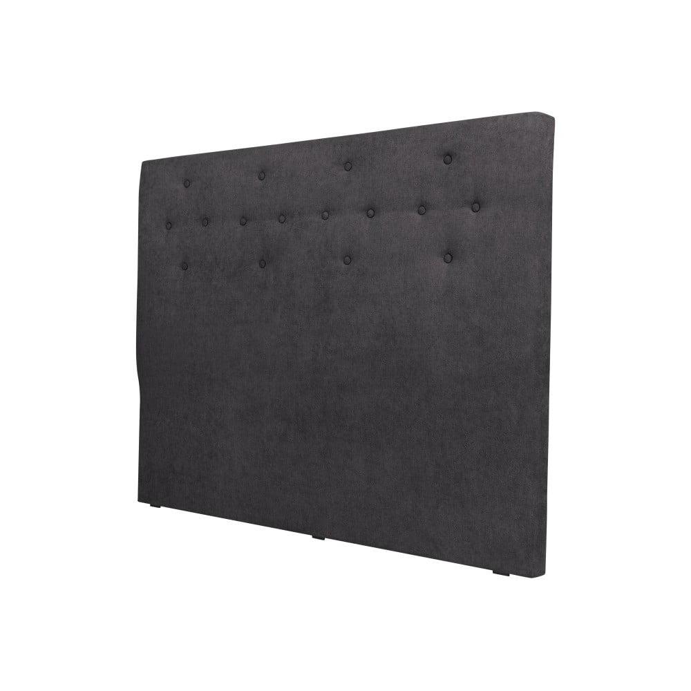 Tmavě šedé čelo postele Cosmopolitan design Barcelona, šířka 202 cm