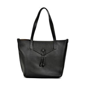 Černá kožená kabelka Renata Corsi Hunlello