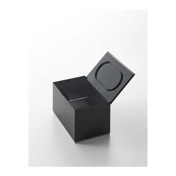 Černá krabička do koupelny YAMAZAKI Veil
